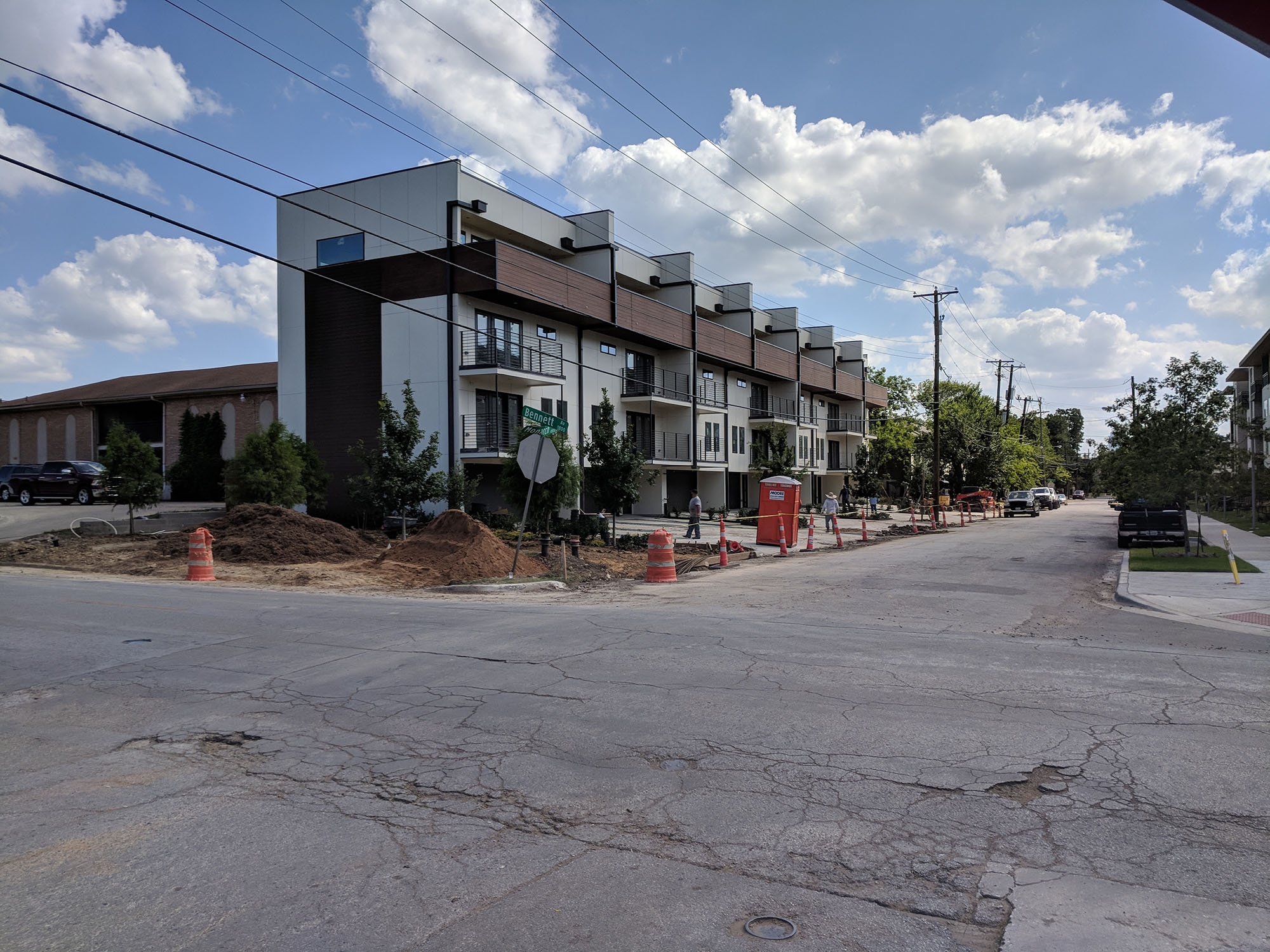 Lower Greenville Townhomes Progress