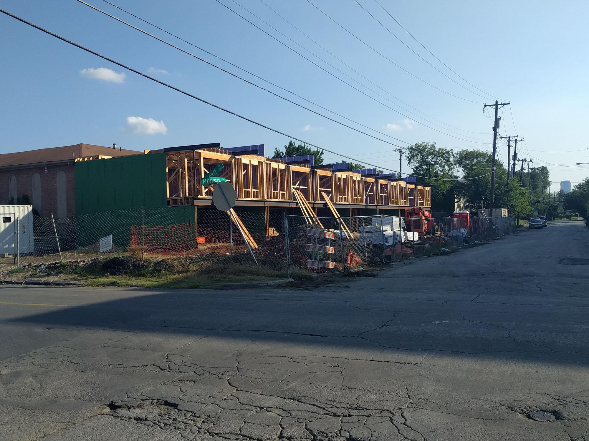 Lower Greenville Townhomes Progress