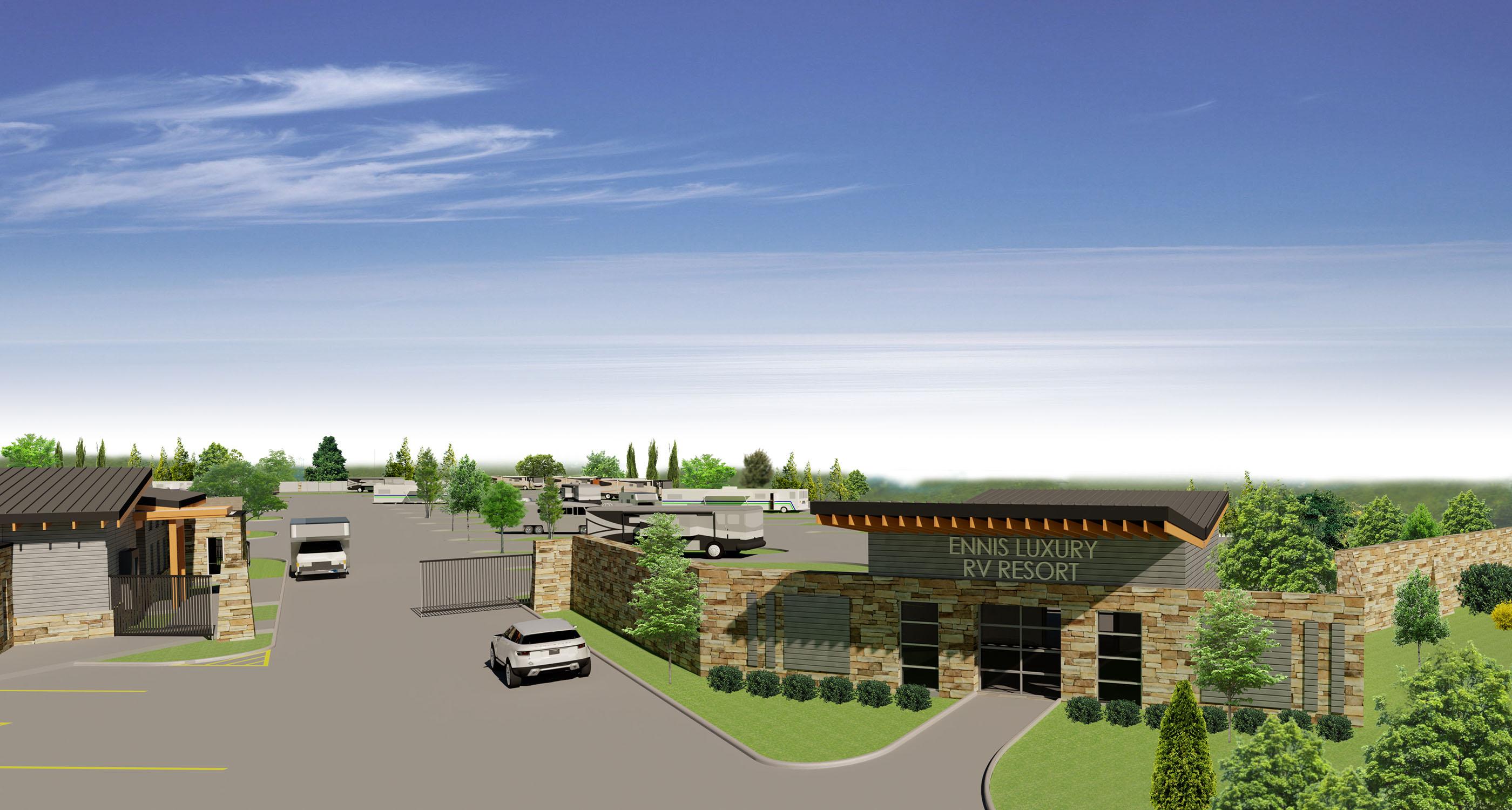 Ennis Luxury RV Resort Construction Progress